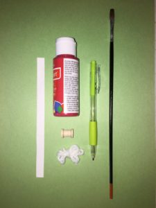 supplies to make a Santa list ornament