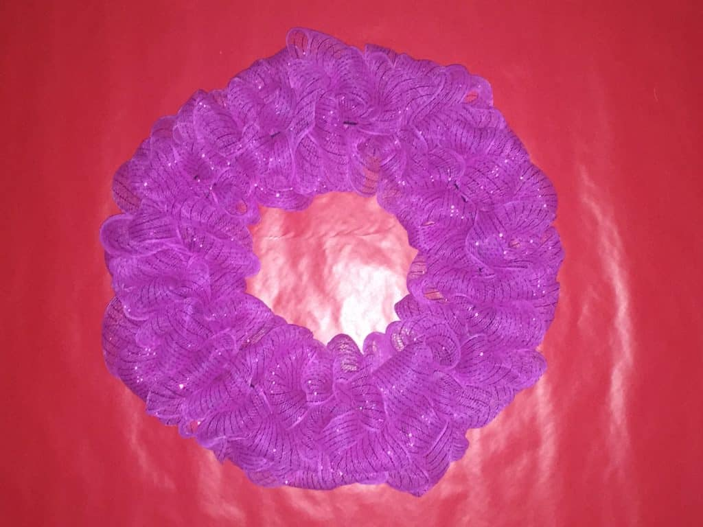Mesh Wreath Tutorial 4